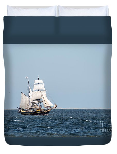 on the way to Texel Duvet Cover