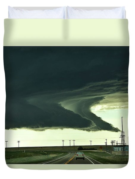 On The Way To The Akron Co Beast Duvet Cover