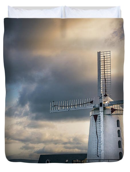 On The Wings Of Time Duvet Cover