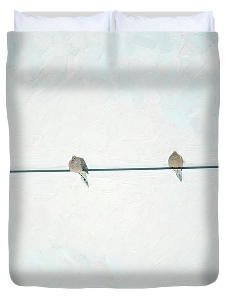 On The Wire Duvet Cover