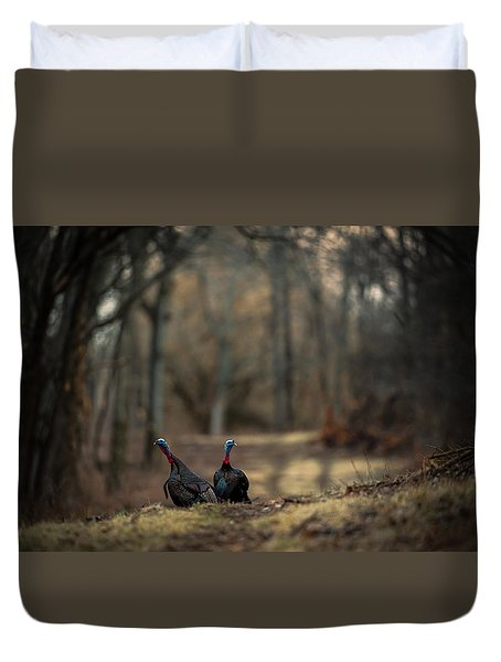 On The Woodlot Path Duvet Cover