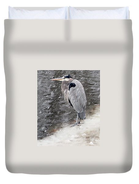 On Thin Ice Duvet Cover