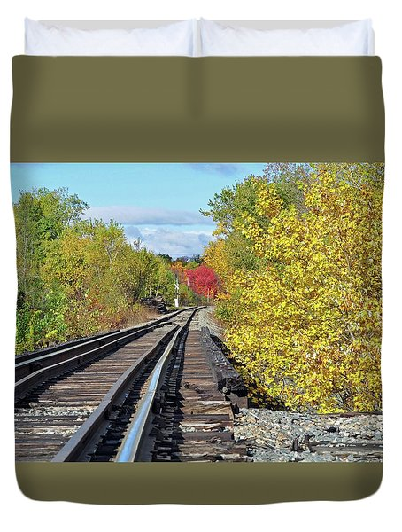 Duvet Cover featuring the photograph On To Fall by Glenn Gordon