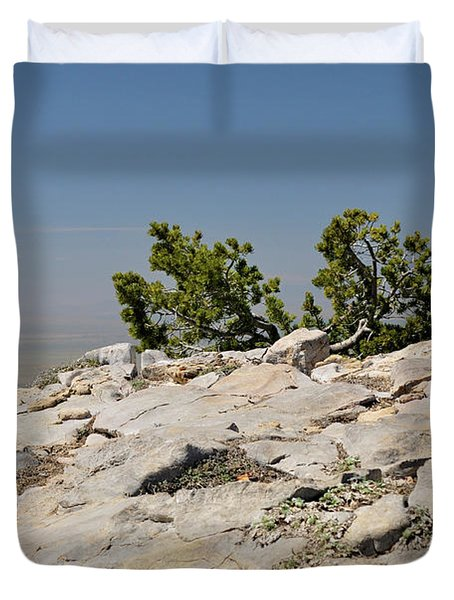 On Top Of Sandia Mountain Duvet Cover