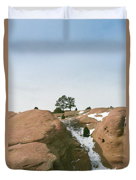 On Top Of The Rock Duvet Cover