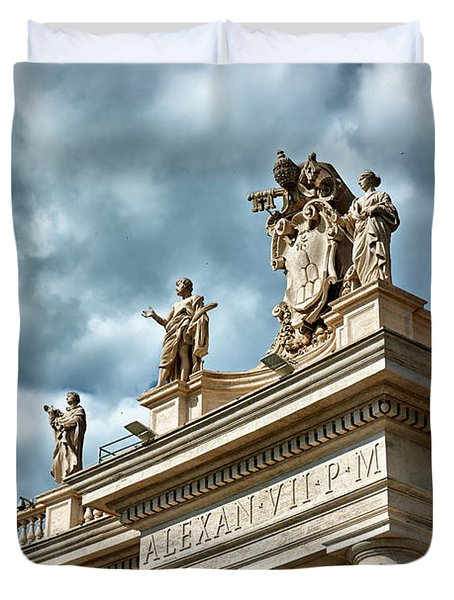 On Top Of The Tuscan Colonnades Duvet Cover