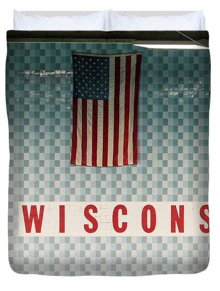 On Wisconsin  Duvet Cover