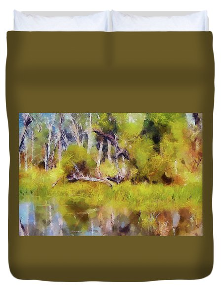 Once A Great Tree Duvet Cover