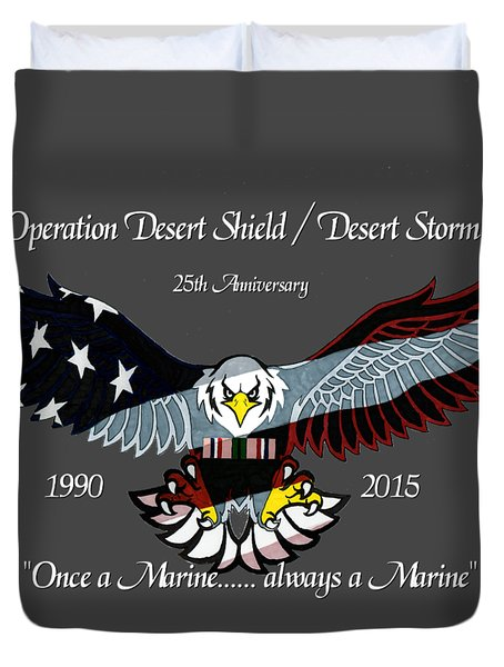 Once A Marine Duvet Cover by Bill Richards