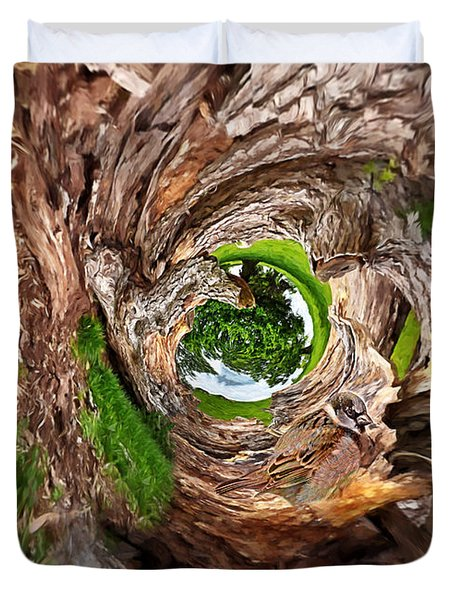 Duvet Cover featuring the photograph Once A Tree by Pennie  McCracken