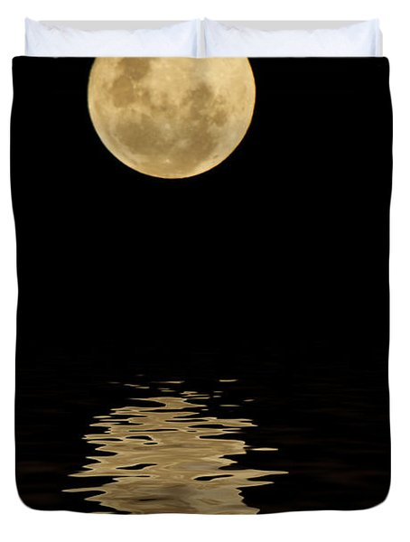 Once In A Blue Moon Duvet Cover by Darren Fisher