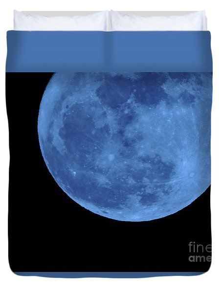 Duvet Cover featuring the photograph Once In A Blue Moon by Mim White