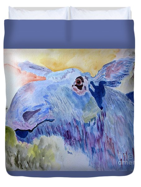 Once In A Blue Moose Duvet Cover