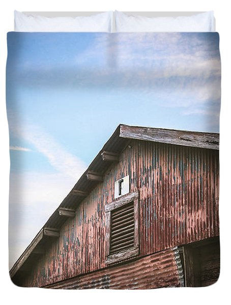 Duvet Cover featuring the photograph Once Industrial - Series 1 by Trish Mistric
