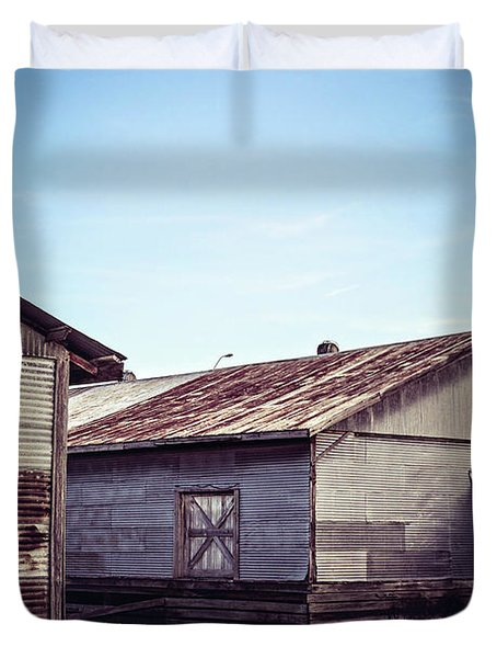 Duvet Cover featuring the photograph Once Industrial - Series 2 by Trish Mistric