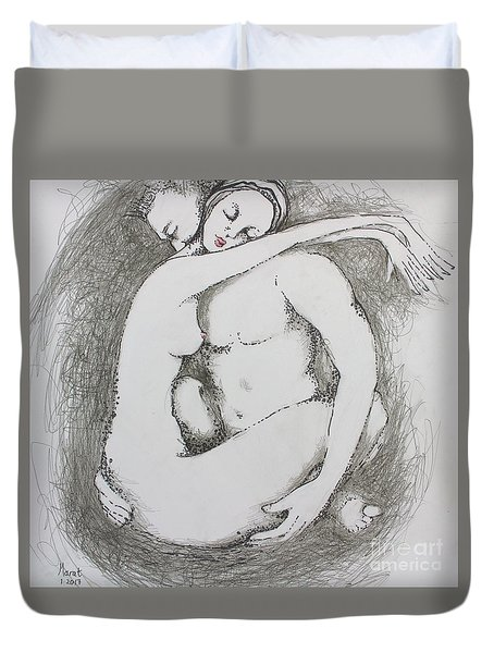 Once Lovers Duvet Cover by Marat Essex
