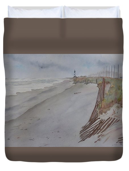 Once There Was A Lighthouse Duvet Cover by Joel Deutsch