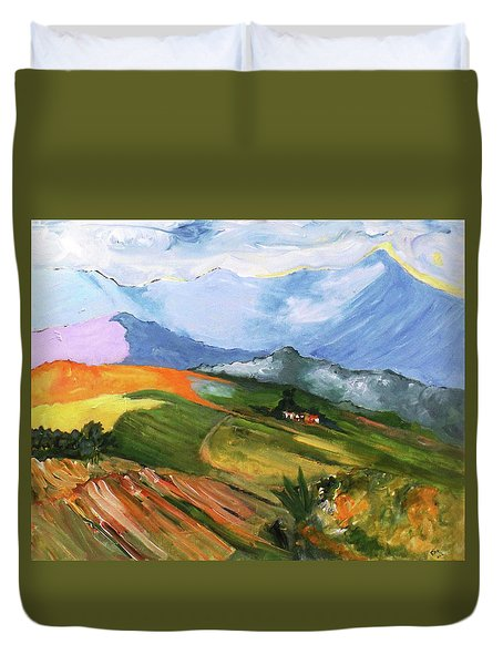 Once There Were Green Fields Duvet Cover