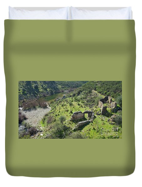 Once Upon A Time A Creek Home Duvet Cover by Angelo DeVal