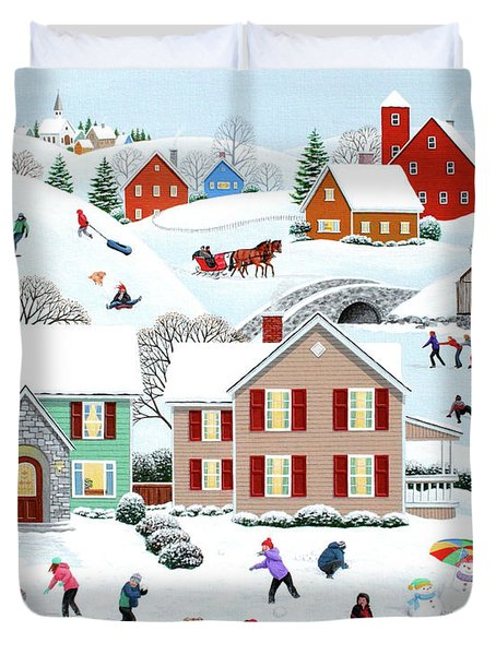 Once Upon A Winter Duvet Cover