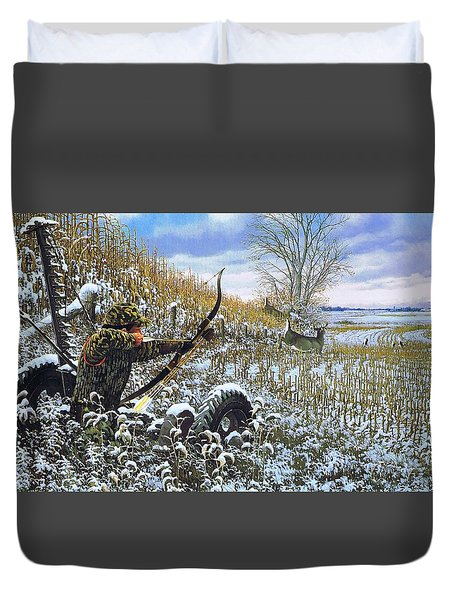 One Chance Only Michael Sieve Duvet Cover