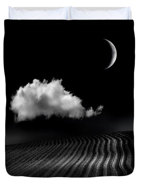 One Cloud Duvet Cover by Mal Bray