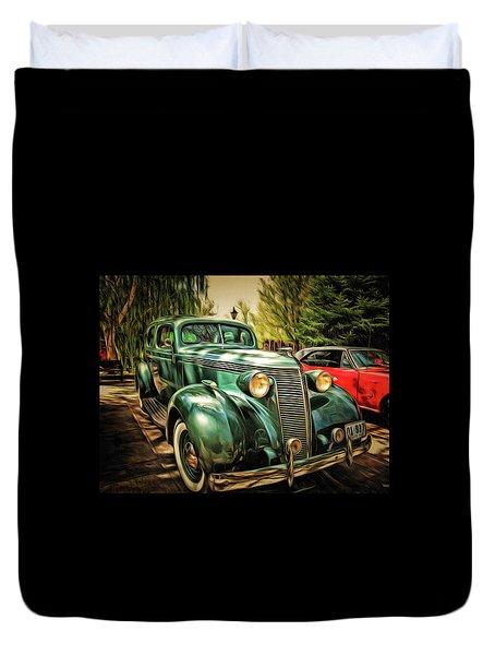 One Cool 1937 Studebaker Sedan Duvet Cover