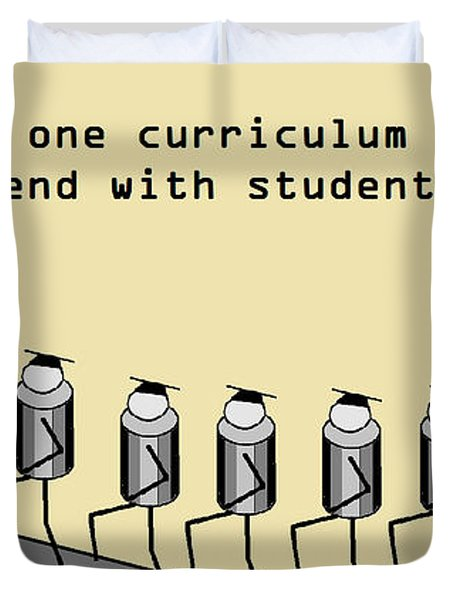 One Curriculum Duvet Cover by David S Reynolds