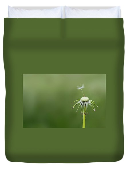 Duvet Cover featuring the photograph One Dandy by Bess Hamiti