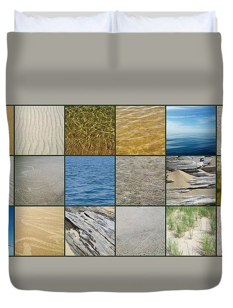 One Day At The Beach  Duvet Cover by Michelle Calkins