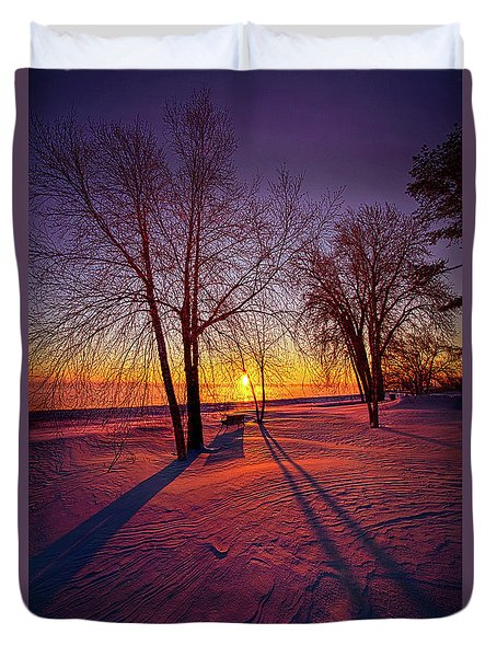 Duvet Cover featuring the photograph One Day Closer by Phil Koch