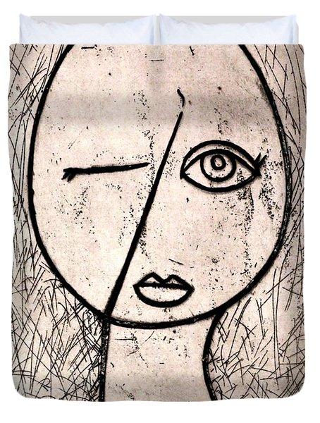 One Eye Duvet Cover by Thomas Valentine