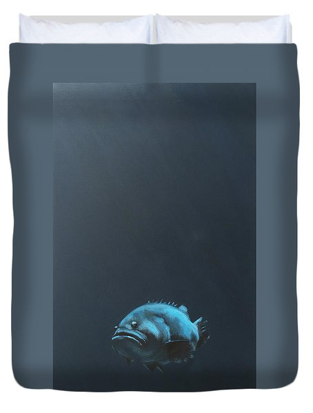 One Fish Duvet Cover by Jeffrey Bess