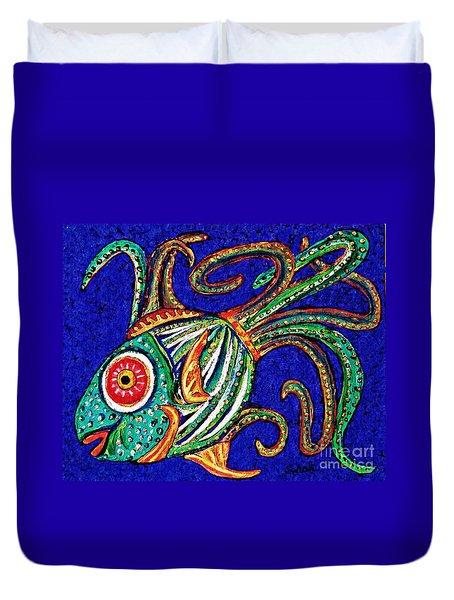 One Fish Duvet Cover by Sarah Loft