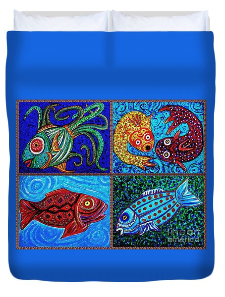 One Fish Two Fish Duvet Cover