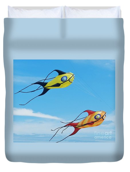 One Fish, Two Fish Duvet Cover