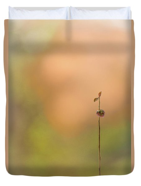 Duvet Cover featuring the photograph oNe by Gene Garnace