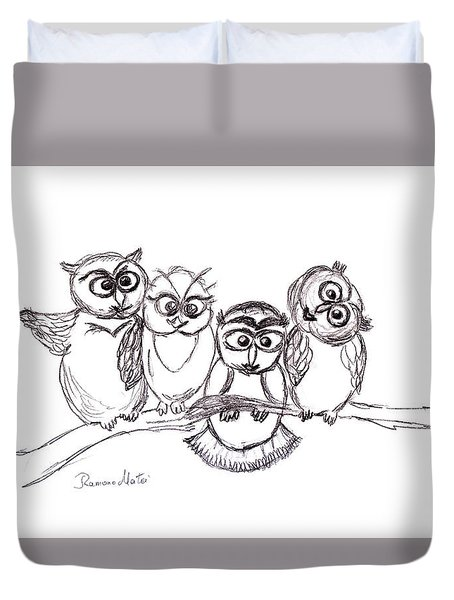 One Happy Family Duvet Cover by Ramona Matei
