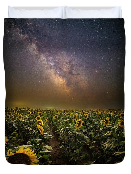 Duvet Cover featuring the photograph One In A Million  by Aaron J Groen