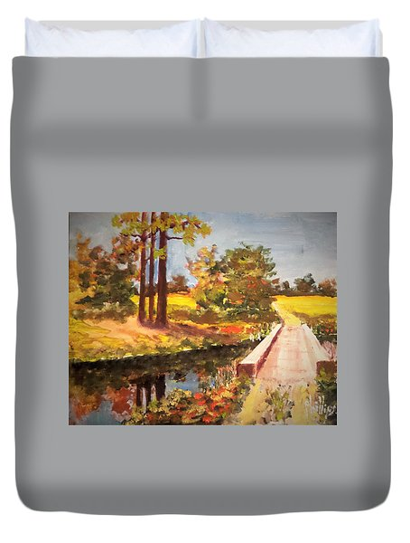 One Lane Bridge Duvet Cover