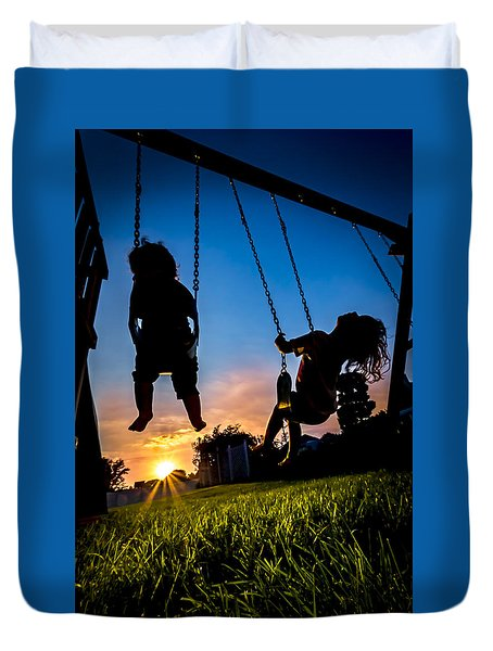 One Last Swing Duvet Cover