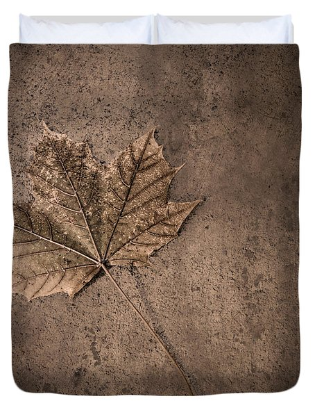One Leaf December 1st  Duvet Cover