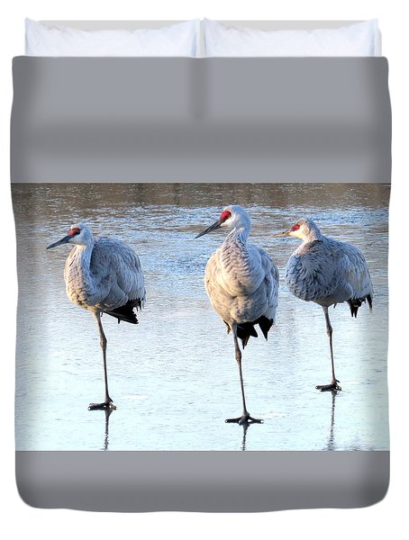 One Leg At A Time Duvet Cover