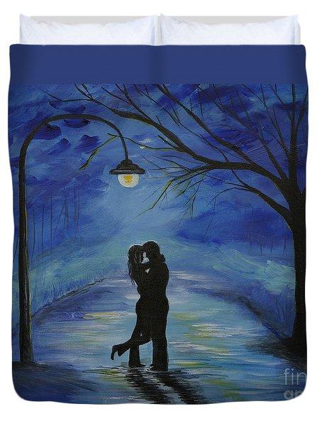 One Love One Lifetime Duvet Cover by Leslie Allen