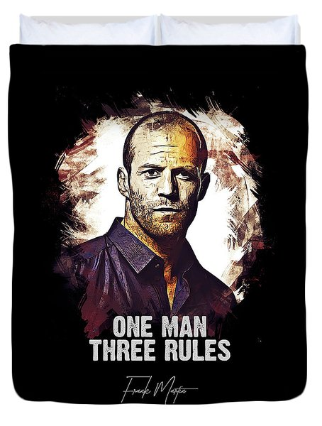 One Man Three Rules - Transporter Duvet Cover