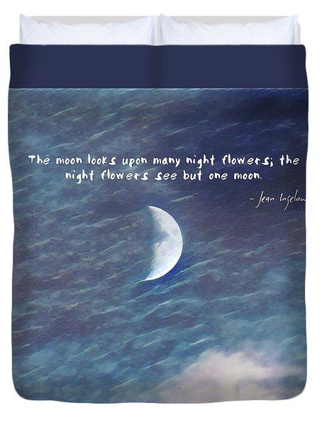 One Moon Duvet Cover