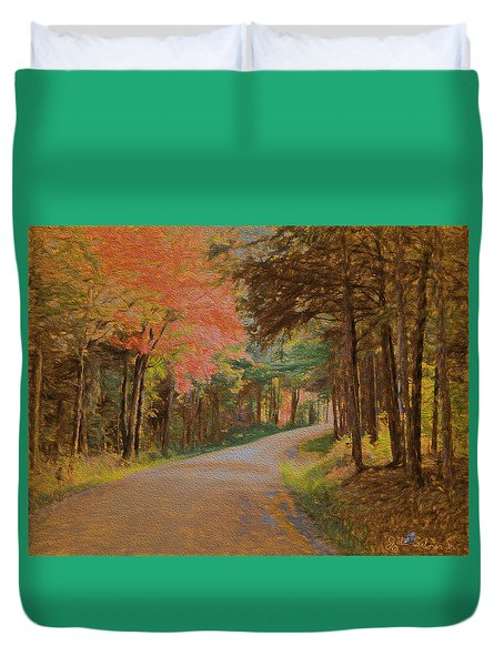 One More Country Road Duvet Cover