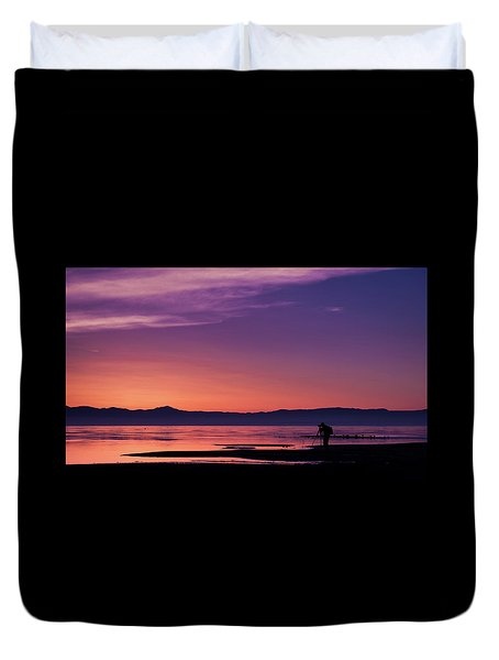 One More Shot Duvet Cover by Ralph Vazquez