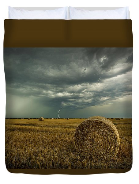 Duvet Cover featuring the photograph One More Time A Round by Aaron J Groen