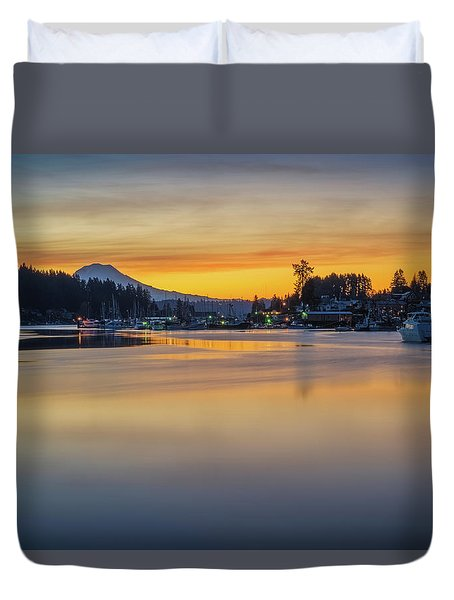 One Morning In Gig Harbor Duvet Cover by Ken Stanback